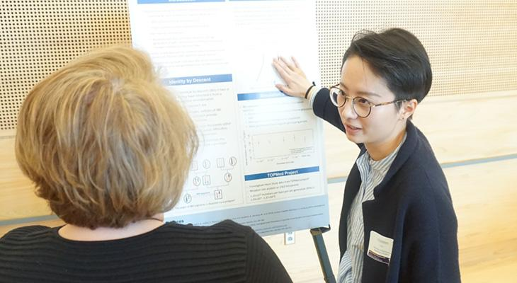UW Biostatistics PhD student presenting at the Biostatistics Colloqium
